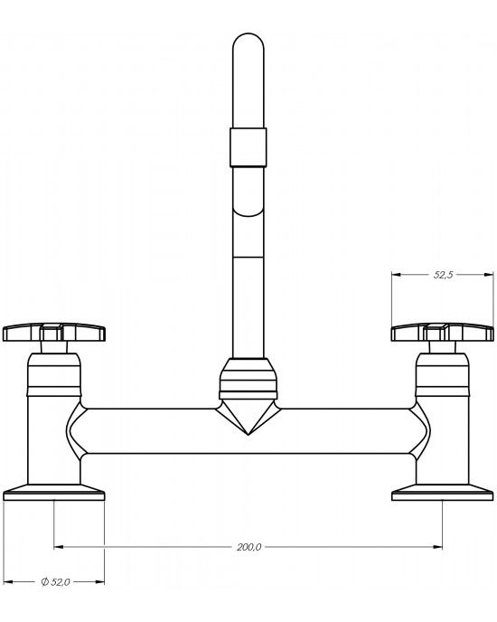 Misturador Cozinha Mesa Bica Móvel ¼ Volta 1256 Alfa C34 Cromado Esteves VMM200CWB