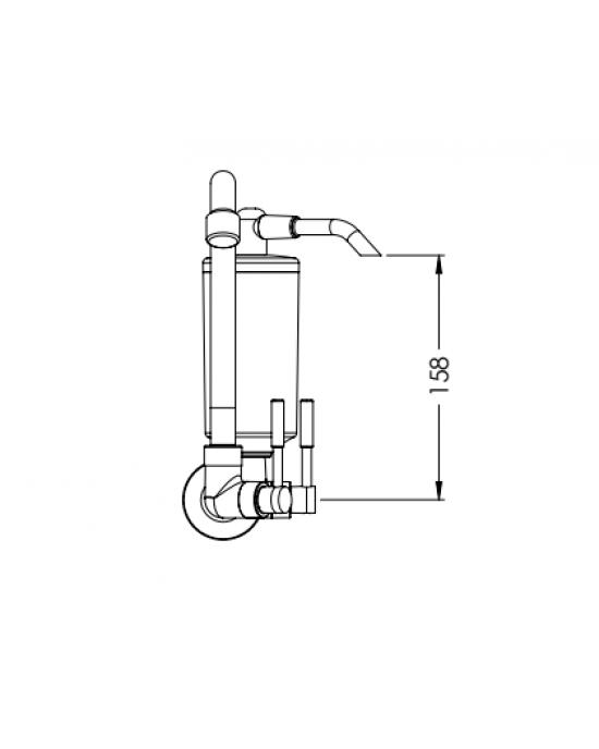 Torneira Cozinha Parede Com Filtro ABS ¼ Volta Stilo C31 Cromado Esteves VTF700CWB