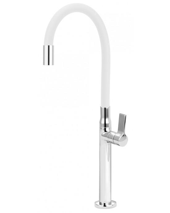 Torneira Banheiro Para Cuba De Apoio Bica Articulada Branca Versata Esteves VTM756CWC