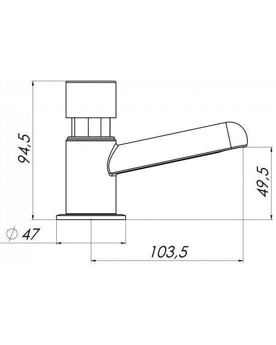 Torneira Banheiro Mesa Standard 1170 EstevesMatic Cromado Esteves VTA011CWB