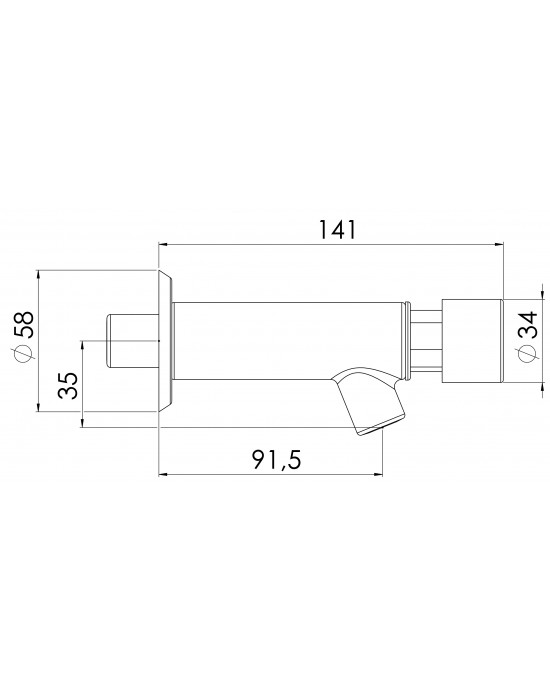 Torneira Banheiro Parede Standard 1175 EstevesMatic Cromado Esteves VTA012CWB