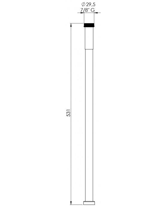 Prolongador Sifão Cruzado Lavatório 50cm Cromado Esteves VAD026CWG