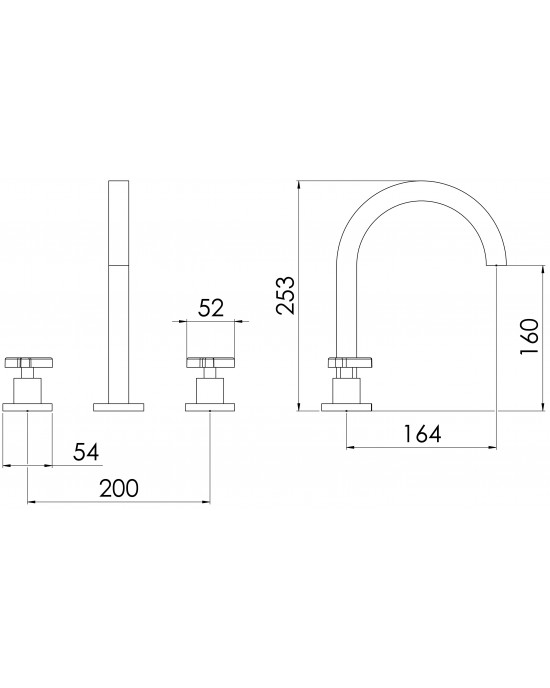 Misturador Banheiro Mesa Bica Alta ¼ Volta New C66 Cromado Esteves VML600CWC