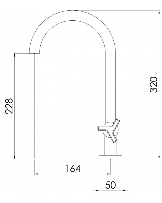 Torneira Banheiro Mesa Bica Alta ¼ Volta 1198 New C66 Cromado Esteves VTL600CWC