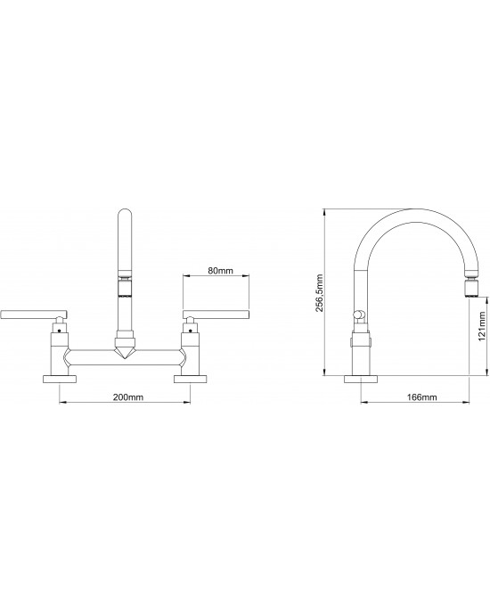 Misturador Cozinha Mesa Bica Móvel ¼ Volta 1256 Omega C61 Cromado Esteves VMM062CWC