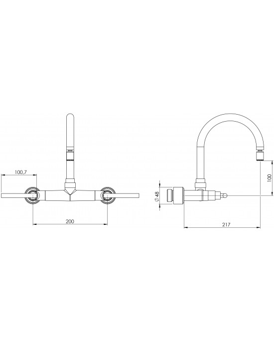 Misturador Cozinha Parede Bica Articulável Branca ¼ Volta 1258 Clean C62 Cromado Esteves VMP467CWC