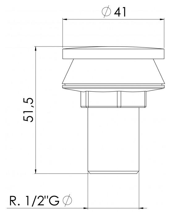 Plug Tampão Para Lavatório E Bidê 1/2 Cromado Esteves VAD965CWG